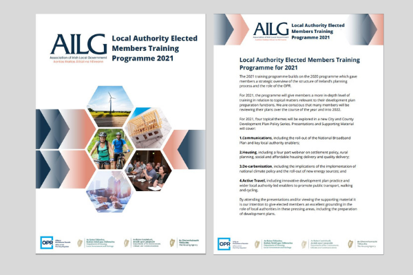 2021 AILG Elected Members Training Programme BrochureAILG's 2021 Training Programme launched in March 2021.